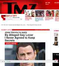 John Travolta Sued By Alleged Gay Lover: TMZ.com