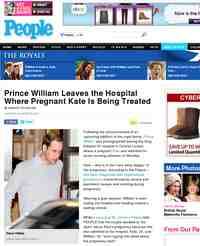 Prince William Leaves the Hospital Where Pregnant Kate: People Magazine